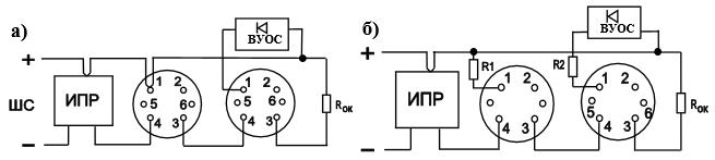 Схемы включения извещателя для приборов с однополярным шлейфом сигнализации типа «УОТС», «ВЭРС», «Гранит», «Агат», «Аккорд», «Сигнал-20П»